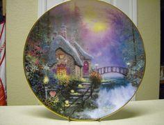"Thomas Kinkade ""Falbrook Cottage"" collector plate."