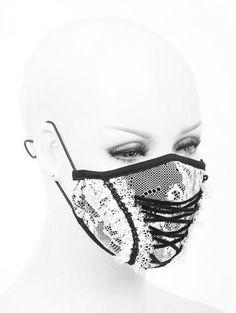 Everyday Goth, Lace Mask, Black Laces, Gothic Fashion, Black Velvet, White Lace, Devil, Filters, Purses