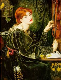 """'Veronica Veronese' (by Dante Gabriel Rossetti painted in 1872) was inspired by Venetian painting. It is believed to represent """"the artistic soul in the act of creation."""""""
