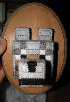 Taxidermy Minecraft wolf head