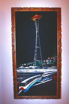 Seattle Worlds Fair Space Needle on Velvet   Flickr - Photo Sharing!