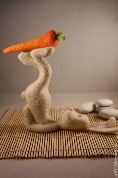 Купить Саламба Сарвангасана(заяцЙОГ) - разноцветный, йога, зайцы, игрушка ручной работы, авторская ручная работа