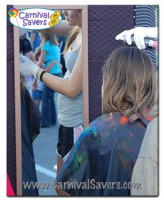 Colored Hairspray Carnival Booth - fun carnival activity for kids