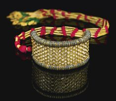 A diamond-set and enamelled gold armband (bazuband), North India, 19th century | Lot | Sotheby's