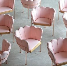 Our trusty golden lounge is nearing the end of its days in Newtown.so were looking for chair inspiration! Which lounge will take pride of place seating the derrières of our beloved lash clients? Decor Interior Design, Interior Decorating, Chair Design, Furniture Design, Pink Furniture, Marquise, Konmari, Vintage Chairs, Elle Decor