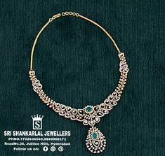 Indian Wedding Jewelry, South Indian Jewellery, Diamond Jewelry, Diamond Necklaces, Beaded Necklace, Pendant Necklace, Jewelry Collection, Chokers, Jewels