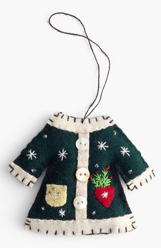 New World Arts Coat Ornament | Nordstrom