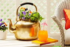 This old, oversized teapot has tons of charm and character, but it was just a bit too random to set out as decor. See how we put it to practical use as a planter!