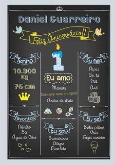 Chalkboard Quadro Negro Aniversário