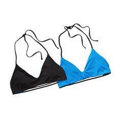 W'S REVERSIBLE MAMALA TOP, Black w/Electron Blue (BETN)