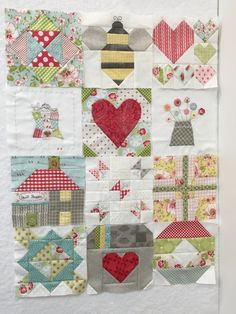 The first 10 blocks of the Splendid Sampler quilt plus two extras