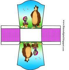 FBL arte digital: kit festa infantil gratis Masha e o urso Masha Et Mishka, Marsha And The Bear, Baby Shower Crafts, Paw Patrol Party, Bear Party, Minnie Mouse, Party Kit, Party Printables, Winnie The Pooh