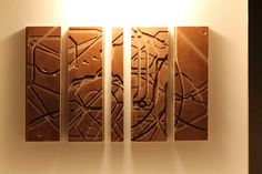 Artwork made from the spoil board underneath a CNC machine!