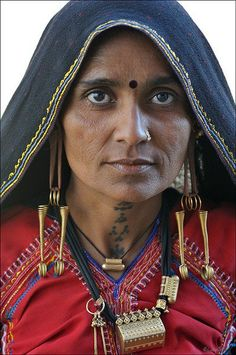 Rabari woman at Dayapur market India.