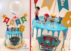 Paw Patrol Birthday Cake, 3rd Birthday Cakes, Homemade Birthday Cakes, Card Birthday, Birthday Parties, Birthday Greetings, 4th Birthday, Paw Patrol Torte, Bolo Do Paw Patrol
