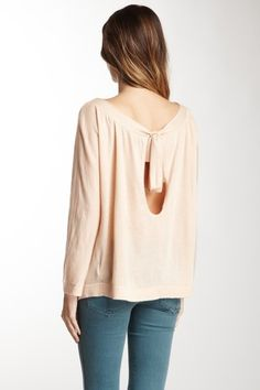 SHAE  Cashmere Open Back Blouse