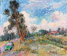 'australien', pastell von David Burliuk (1882-1967, Ukraine)