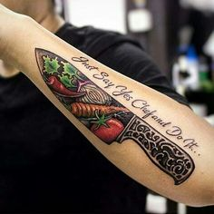 Image result for chef knife tattoo