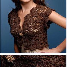 Sleeveless crochet boleo. Wonderful. liked?