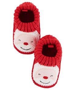 Baby Girl Santa Crocheted Booties