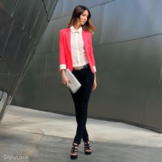 Pink Party Blazer look! Buy this fashion look at: http://www.dailylook.com/c/2012-01-1-Pink-Party-Blazer/1/236.html