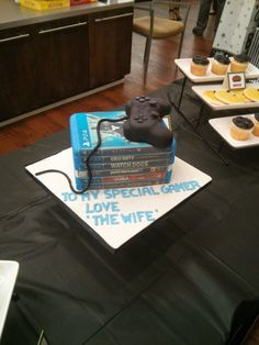 Mostly PS4 games birthday cake