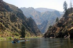 Middle Fork of the Salmon River // Idaho. A great rafting trip: clear water, hot springs, ancient pictographs, magnificent scenery. Much of the Salmon River remains as wild today as it was in 1805, when its rapids convinced Lewis and Clark that the river was too dangerous to canoe.