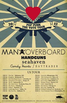 Man Overboard Pop Punk The Vote Tour Dates Announced