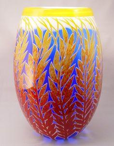 """Winter Wheat"" BLOWN GLASS VASE by DUNCAN McCLELLAN"