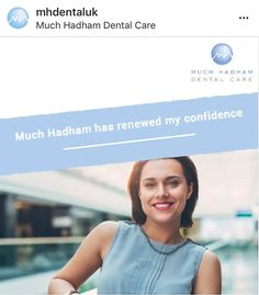 """I recently moved to Much Hadham Dental Care and the treatment I have been receiving is professional and caring. Much Hadham has renewed my confidence. I would highly recommend this practice to anyone.""– Patient at Much Hadham Dental Care. Dental Health, Dental Care, Best Mouthwash, Teeth Straightening, Root Canal Treatment, Oral Surgery, Dental Problems, Great Smiles, Perfect Smile"