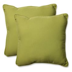 Pillow Perfect Solid 18.5 in. Square Outdoor Throw Pillow - Set of 2 - INACTIVE