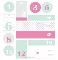 free advent calendar printable | Nice Party