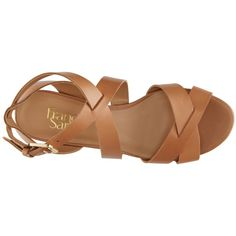 Franco Sarto Cantina Wedge Sandal ($60) ❤ liked on Polyvore featuring shoes, sandals, strappy wedge sandals, wedges shoes, leather platform sandals, strap sandals and platform wedge sandals