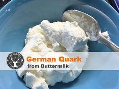 How to make Quark from buttermilk ✪ easy & quick DIY ✪ MyGerman. Quark Recipes, Buttermilk Recipes, Gourmet Recipes, Healthy Recipes, German Quark Recipe, German Recipes, How To Make Cheese, Food To Make, Quark Cheese