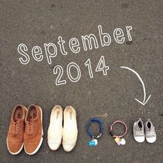 Baby Announcement With Dog Collars And Shoes