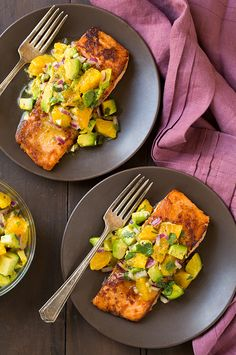Honey Glazed Salmon with Citrus Avocado Salsa | Cooking Classy