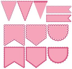 Svg Shapes, Banner Shapes, Baby Banners, Pennant Banners, Birthday Banners, Shape Templates, Templates Printable Free, Cricut Banner, Bunting Template