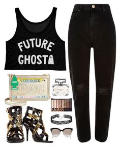 """""""Untitled #1788"""" by anarita11 ❤ liked on Polyvore featuring River Island, Betsey Johnson, Moschino, Gucci and Christian Dior"""