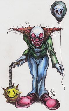 Evil Clown Flash Line work is in my gallery Im not a big fan of clowns 2 Scary Clown Drawing, Freaky Clowns, Creepy Drawings, Dark Art Drawings, Evil Clowns, Creepy Art, Clown Horror, Arte Horror, Evil Clown Tattoos
