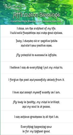 Affirmation Blessings