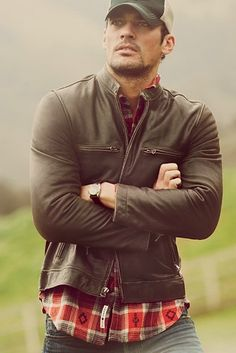 Winter Trends for Men - Leather Jackets - Plaid Shirts