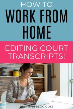 Want to find a good paying work at home job? If you think you will like editing court transcripts then check out how to work as a scopist! work from home,work from home tips,work from home jobs,work from home marimba remix,work from home sözleri Amazon Work From Home, Online Work From Home, Work From Home Business, Work From Home Tips, Stay At Home Mom, Business Ideas, Work At Home Jobs, Online Business, Earn Money From Home