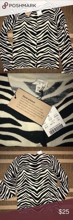J Crew Zebra Print Button Down Sweater J Crew Zebra Print Button Down Sweater   XS   New with tag J. Crew Sweaters Cardigans
