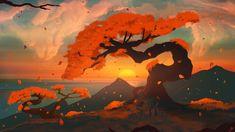 Desktop Wallpaper Sunset, Tree, Lake, Nature, Art, Hd Image, Picture, Background, C4792a