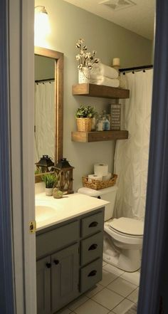 Best Bathroom Remodel Ideas on A Budget that Will Inspire You Impressive Tiny Bathroom Remodel Suggestions - A little restroom remodel on a budget plan. These low-cost restroom remodel suggestions for small bathrooms are quick and also easy. Bad Inspiration, Bathroom Inspiration, Bathroom Theme Ideas, Modern Farmhouse Bathroom, Vintage Farmhouse, Farmhouse Small, Farmhouse Decor, Farmhouse Ideas, Farmhouse Design