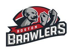 FXFL Boston Brawlers Identity on Behance - American Logo Sport Theme