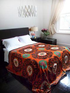 Vintage Suzani Bedspread...see similar at www.masutti.co.nz