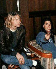 Kurt Cobain smoking.