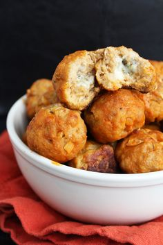 Blue Cheese Stuffed Buffalo Turkey Meatballs. Trader Joe's has buffalo chicken meatballs that are supper yummy. I hope these are as delish!