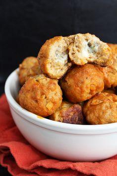 Blue Cheese Stuffed Buffalo Turkey Meatballs #GameDayBites